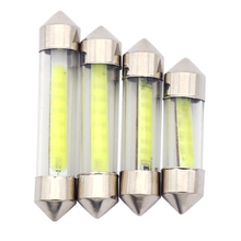 10pcs Car styling 31mm/36mm/39mm 12V Festoon LED Car Bulb Parking CANBUS C5W COB LED SIZE Interior White SMD Bulb Reading lights