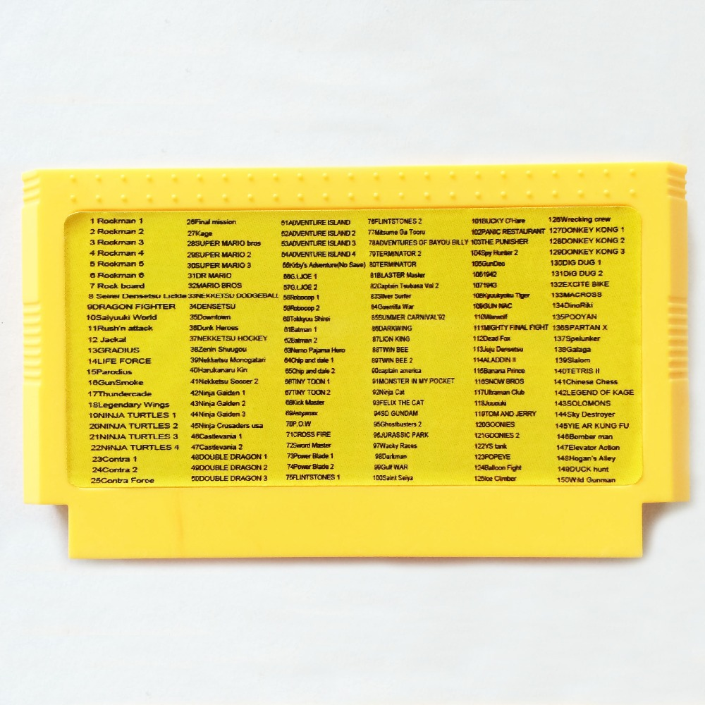 <font><b>150</b></font> <font><b>In</b></font> <font><b>1</b></font> 60 Pin Game Card For 8 Bit Game Player image