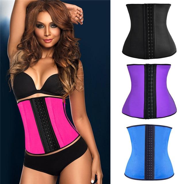 f579e506cee Women Waist Trainers Corset Neoprene Latex Body Shaper Ladies Slimming  Sheath Belly Belt Modeling Strap Shapewear