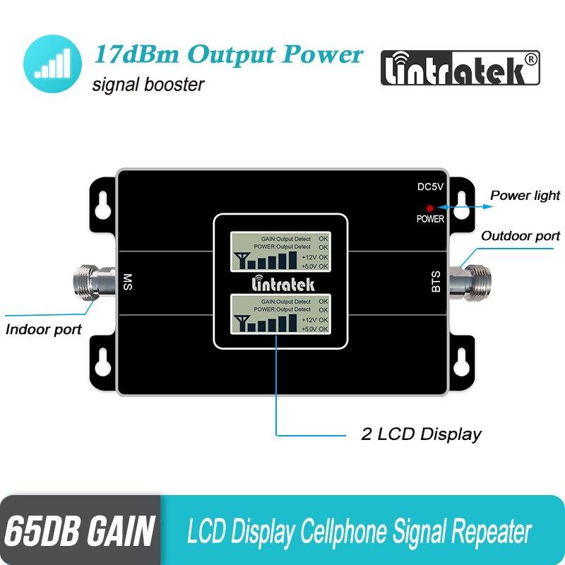 Lintratek 3g 2g 900 2100 LCD amplificateur de Signal Mobile Double bande GSM 900 mhz WCDMA UMTS 2100 mhz répéteur amplificateur cellulaire #40 - 2