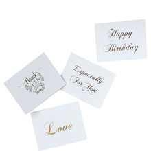 1pcs/lot White Bronzing Gift Gift Decoration Card Four Selection For School And Office Supply uv ink printed barcode card and plastic member key card 3 part supply