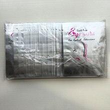 500 çift Tek Kullanımlık Kollajen Göz Jeli Yama Göz maskesi tüysüz Ücretsiz Göz yamaları Göz Pedleri kirpik Uzatma için Toptan Ücretsiz Kargo
