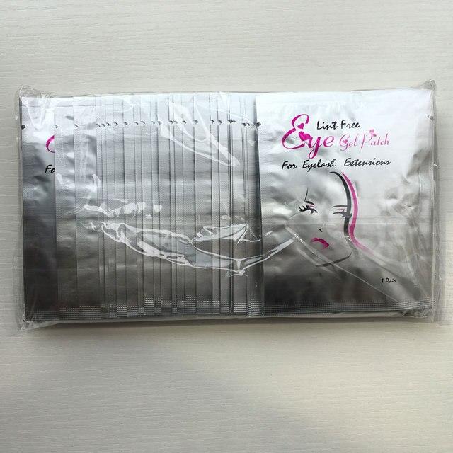 500 pares de parches desechables de Gel de colágeno para los ojos máscara de ojos sin pelusa parches de ojos para extensiones de pestañas venta al por mayor envío gratis