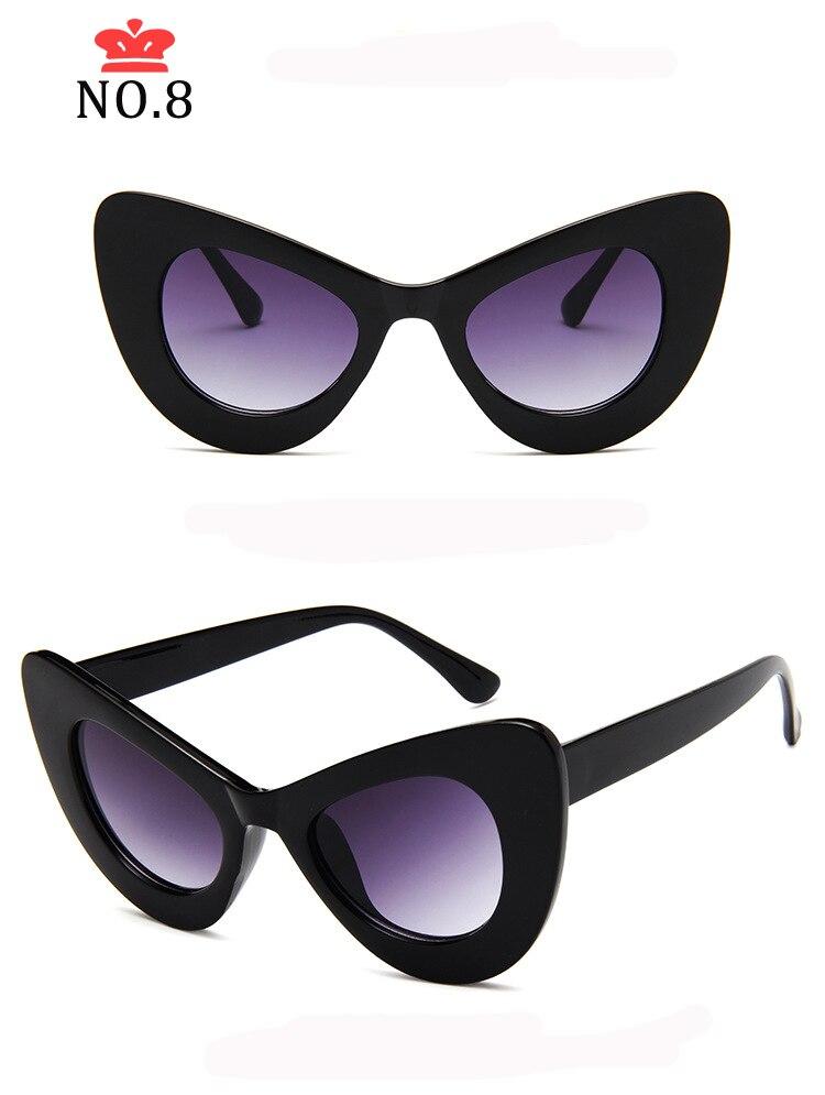 Длинные Винтажные Солнцезащитные очки кошачий глаз женские роскошные