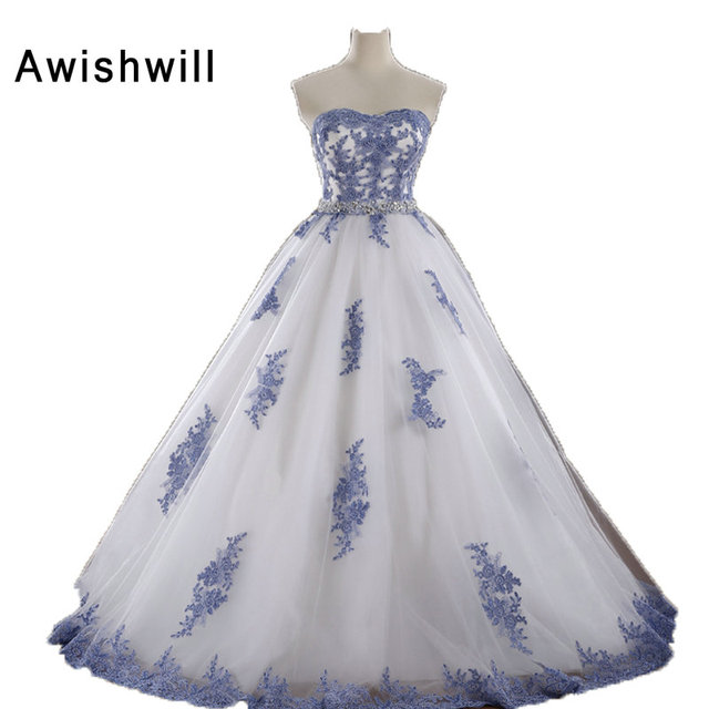 2018 Hot Sale Cheap Prom Dresses Ball Gowns Long Tulle Appliques ...