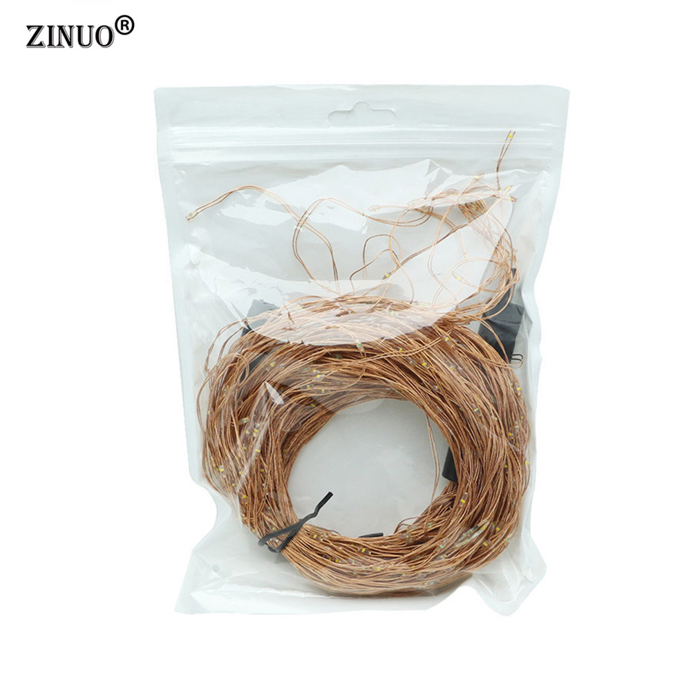 ZINUO 20X2M 400 LED Garland DC12V Super Soft Fairy String Light DC5 5X2 1MM Outdoor Christmas New Year Party Decoration in LED String from Lights Lighting