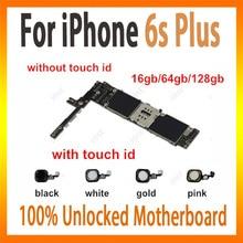 20af93c8099 Para iPhone 6 s plus 6sp placa base con touch ID negro/blanco/oro/Rosa  lógica Original desbloqueada junta 16 gb/64 gb/128 gb