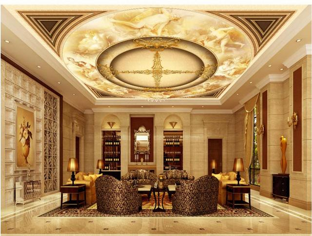 Dekoration Decke Tapete Schone Engel Europaischen Stil 3d