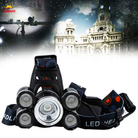 OOBEST 800LM 5 LED Headlamp Outdoor Headlight Rechargable Torch Set 4 Models for Camping Hunting Hiking Fishing Super Bright US