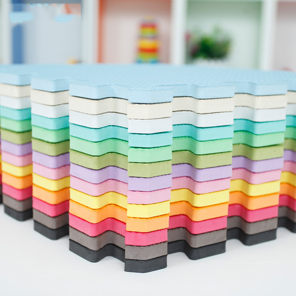9pcs/lot 12 Colors Baby Toys EVA Foam Floor Play Mat