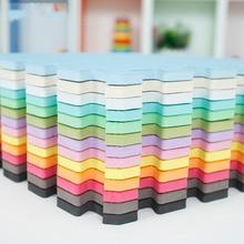 9 pcs/lot 12 couleurs Bébé jouets EVA mousse Tapis de jeu au sol Enfants enduit de pastorale pad casse-tête Environnemental Tapis pour kid31.5 * 31.5 cm