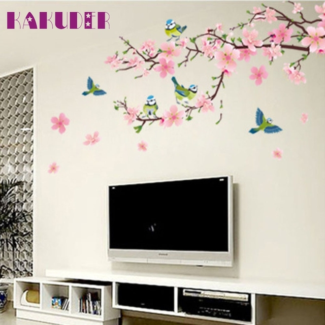Adesivos de parede poster wandaufkleber für kinder zimmer Blume ...