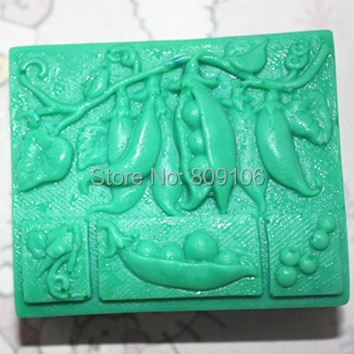 Wholesale/retail,free shipping , C290 Lentils clay pottery mould silicone cake mold soap Mold FM