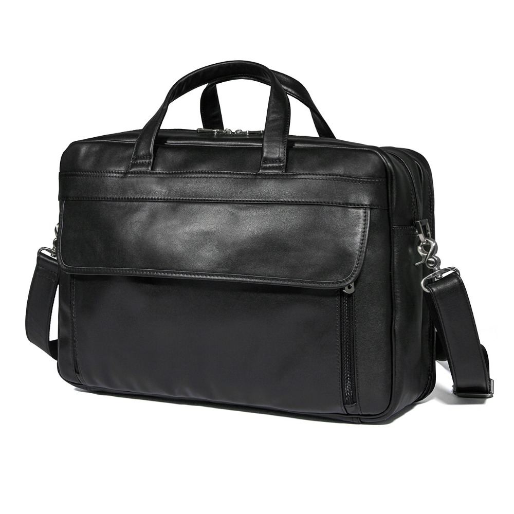J.M.D Real Leather Briefcases 17 inches Leather Laptop Bag for Men