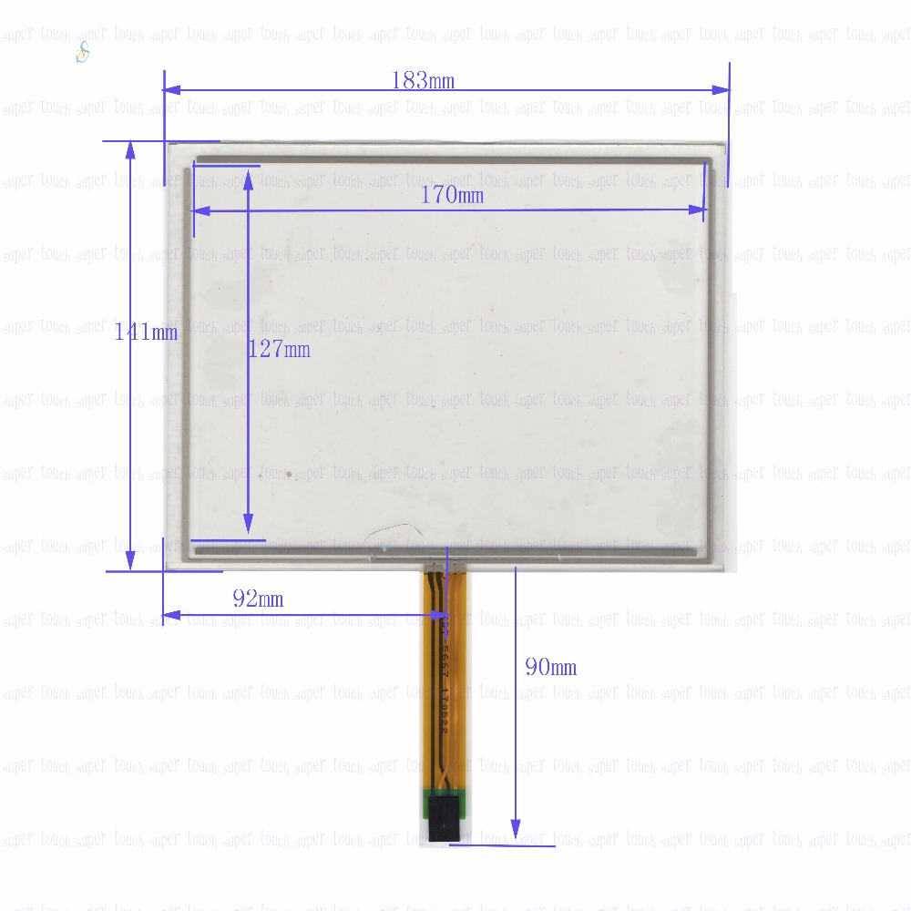 ZhiYuSun POST  KDT-5667 8inch 4-wire resistive touch panel 183*141 GPS 183mm*141mm this is compatible for Industrial applicatio new usp 4484038 0p 29 8 4 inch touch screen post 8 4 inch resistive touch panel for industry applications
