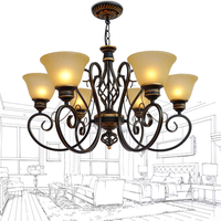 French Creative Nordic Pendant Lights E27 Led Lights Lamps For Living Room Simple LED Restaurant Dining