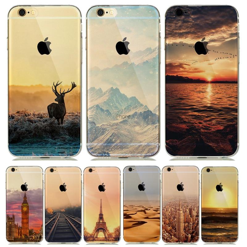 Nature paysage paysage tui pour coque iPhone 5 s SE 6 6 s Silicone couverture souple