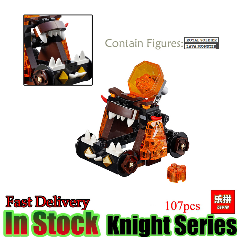 LEPIN 14009 Nexoe Chaos Catapult Nexus Knights Set Model Building Blocks Crust Smasher Royal Guard Model Bricks Kid Toys Gift lepin 14011 nexoe knights nfernox captures the queen model building kits aaron minifigures blocks bricks compatible with lego