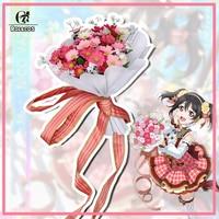 ROLECOS Japanese Anime Love Live Cosplay Costumes Flower Bouquet Arousal Kousaka Honoka Minami Kotori Ayase Eli