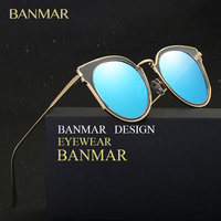 BANMAR Polarized Fashion Women Round Sunglasses Brand Designer Classic Shades Sun Glasses Men Luxury Sunglasses UV400 Gafas 6044