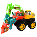 Happy Cherry Children Kids Colorful Excavator Bulldozer Tractor Construction Truck Digger Toy Vehicle Toys for Baby Boys Girls