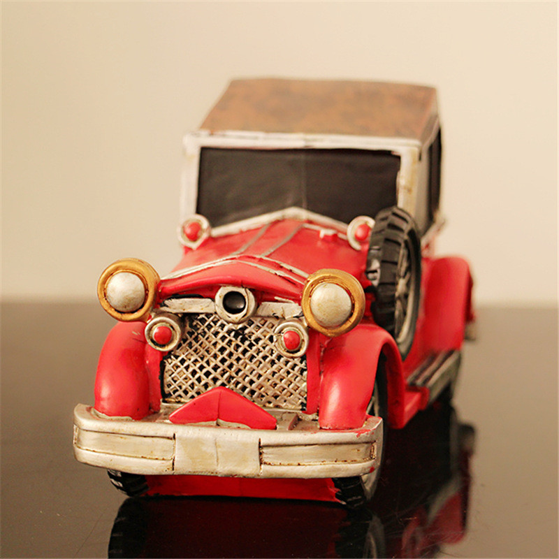 Vintage Car Model Antique Piggy Bank Coins Safe Money Box Resin Car Toy Gift For Children Kids Birthday Gift Decoration Cofre ...