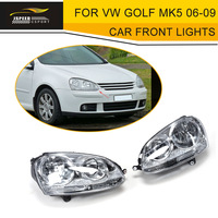 LHD ABS Car Head Lamp For VW Golf MK5 Standard Bumper 2006 2009 Left Hand Drive Auto Car Front Lights