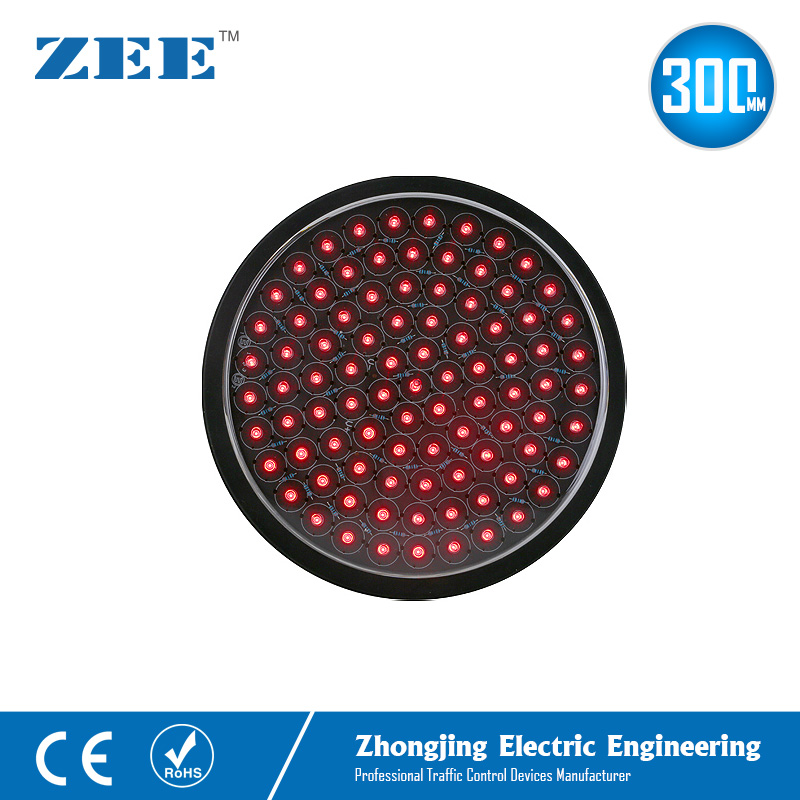 12 Inches 300mm Full Red Round LED Traffic Signal Modules Replaced LED Traffic Lamp 220V 12V 24V Traffic Lights