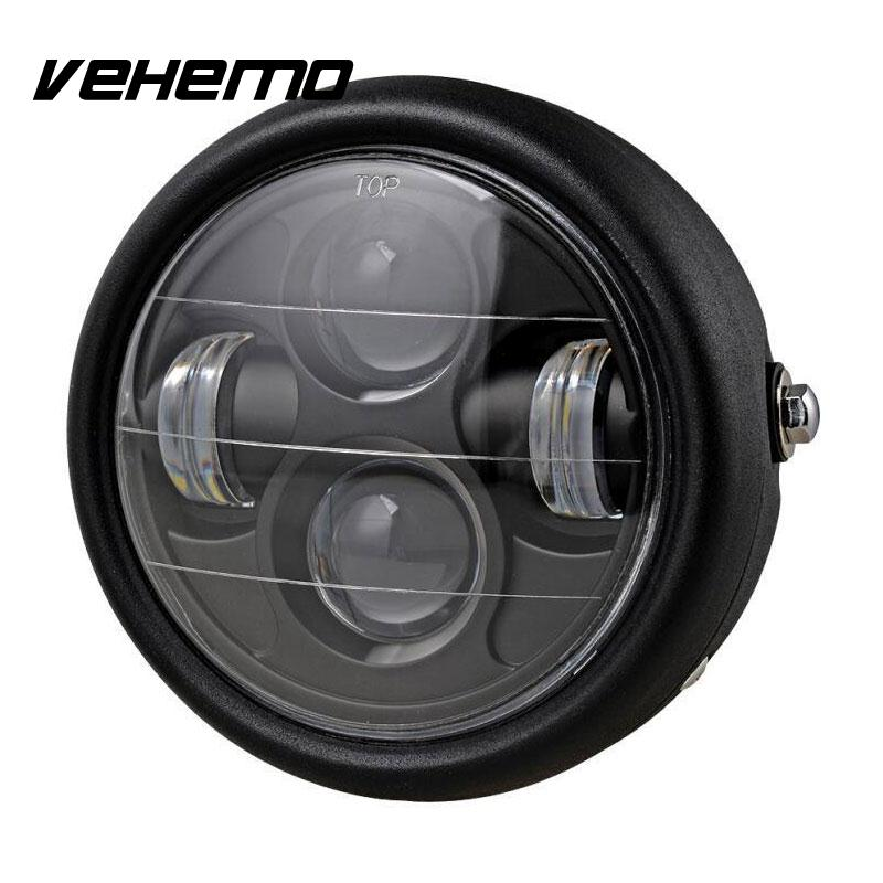 Motorcycle Projector Pure White Headlight Hi/Lo LED Light Beads Lamp Bulb Lamps