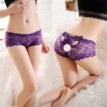 Trish Bella 2018 new Jacobs transparent Flower Hollow Butterfly Stick drill sexy lingerie visavis panties underwear women