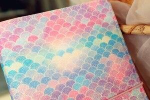 "Image 3 - ""Mermaid Traveler Notebook"" Shining Spangles Cover 일기 저널 교체 가능한 논문 Girls Stationery Gift"
