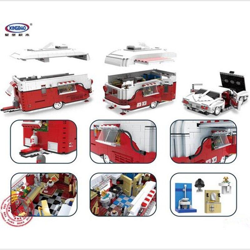 W magazynie XingBao 08003 2436 sztuk nowa seria kreatywna MOC Camper zestaw dzieci edukacyjne klocki klocki zabawki modelu w Klocki od Zabawki i hobby na  Grupa 2