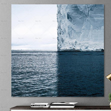 Wall Art Pictures Frameless printing sea abstract art print on canvas painting poster for living room