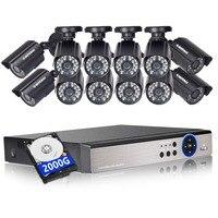 DEFEWAY 1080N HDMI DVR 12 1200TVL 720P HD Outdoor Home Security Camera System 16 CH Video Surveillance DVR AHD CCTV Kit 2TB HDD