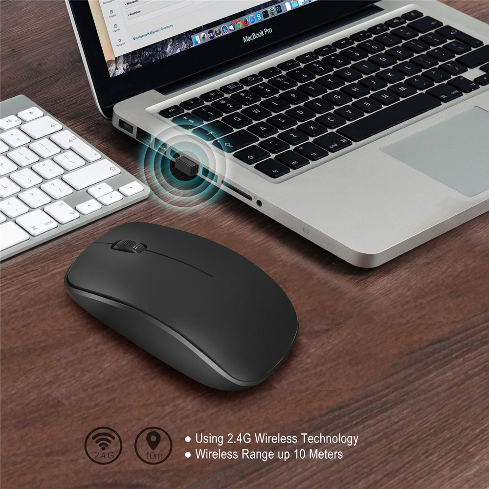 2.4G Wireless Mouse Ergonomics Optical Mouse Office Black 1600 DPI Mice Home Laptop White Mice for Lenovo DELL Macbook HP
