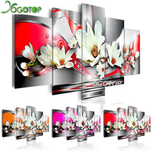 YOGOTOP DIY Diamond Painting Cross Stitch Kits Full Diamond Embroidery 5D Diamond Mosaic Home Decor orchid Flowers 5pcs ML255 yogotop diy diamond painting cross stitch kits full diamond embroidery 5d diamond mosaic home decor two wolf 5pcs ml224