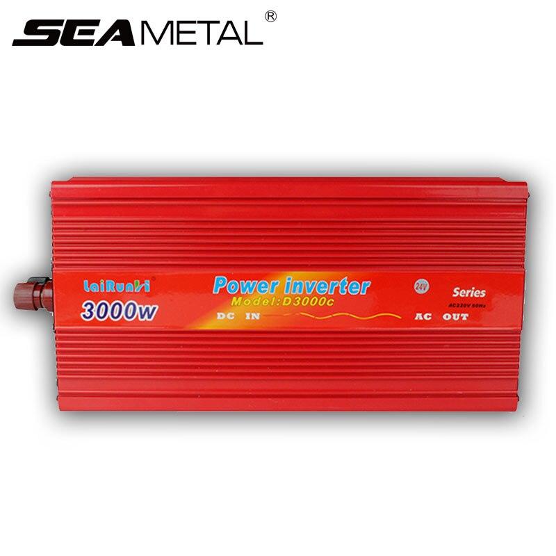 3000W 4000W Car Inverter DC 24V 12V to AC 220V Power Modified Sine Wave USB Charger