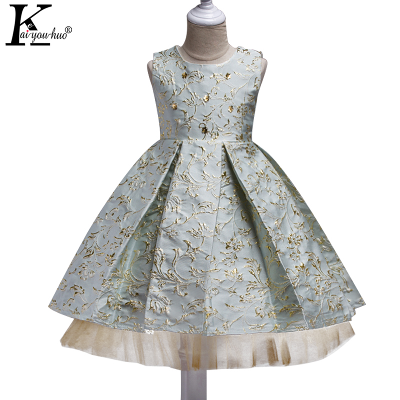 Summer Dress 2017 Girls Clothes Sleeveless Princess Wedding Dress 4 5 6 7 8 9 10 Year Kids Party Tutu Dresses For Girls Costumes baby girls party dress 2017 wedding sleeveless teens girl dresses kids clothes children dress for 5 6 7 8 9 10 11 12 13 14 years