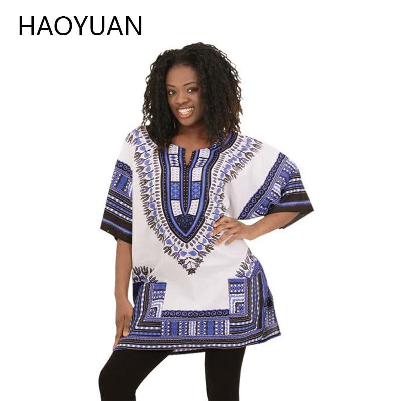 2018 African Dresses For Women Dashiki Men African Clothes Hippie Shirt Caftan Vintage Unisex Tribal Mexican Top Bazin Riche