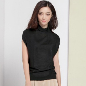 Image 5 - Wool Soft Elastic Sweaters and Pullovers Turtleneck Short Sleeve Spring Autumn Women Cashmere Sweater Female Brand Jumpers