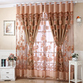 250cm x 95 cm Flower Tulle Door Window Curtain Drape Panel Sheer Scarf Valances Curtains 4 Colors L1