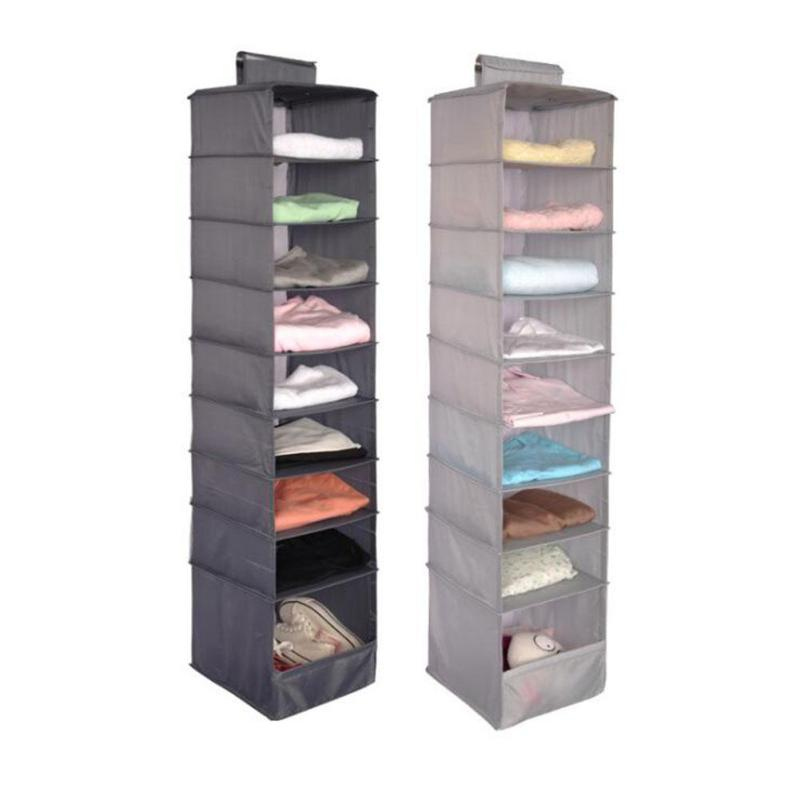 9 Cell Hanging Box Underwear Sorting Clothing Shoes Pants Storage Mails Door Wall Closet Organizer Organize Bag 15 In Bags From Home Garden
