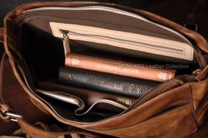 Image 5 - Vintage skórzana torba męska skórzana torba na ramię męska torba Crossbody męska Sling torba rekreacyjna torebka na ramię brązowy szary
