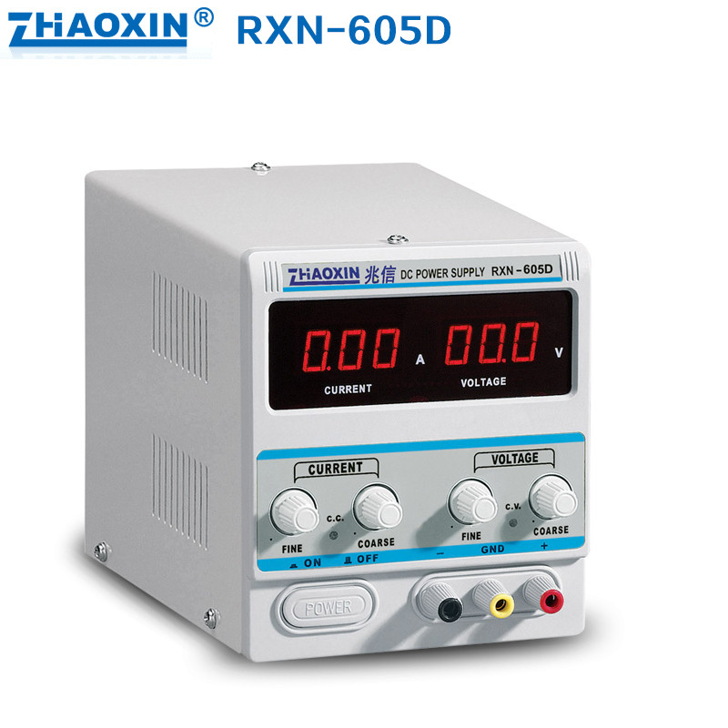 60V 5A DC Power Supply RXN-605D Variable Adjustable Linear DC Adjustable Power Supply free shipping zhaoxin linear adjustable dc power supply rxn 305d 30v 5a