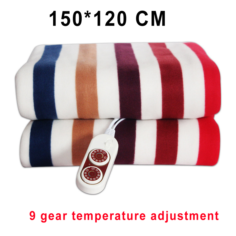 Electric Blanket Thicker Heater Double Body Warmer 150*120cm Heated Blanket Thermostat Electric Heating Blanket Electric Heating-in Electric Heaters from Home Appliances