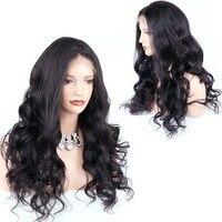 Волна 360 парик шнурка с волосами младенца предварительно сорвал человеческих волос парик естественного волоса бесплатная часть 4,5 дюймов и