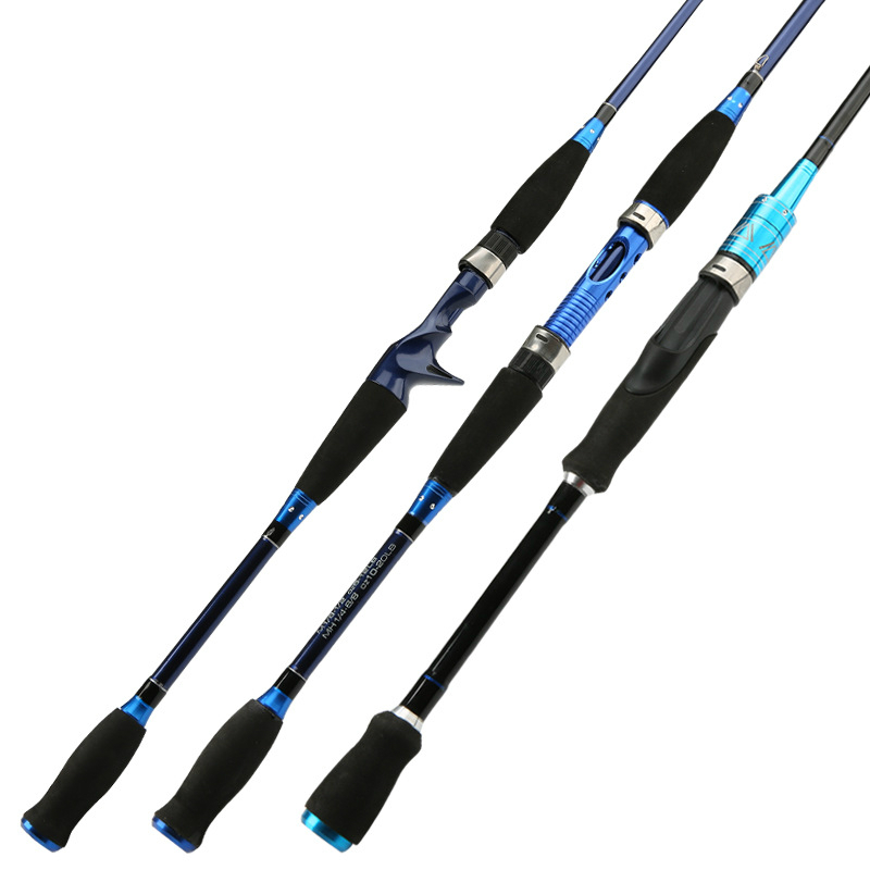2pcs 1.8/2.1/2.4m Carbon Distance Throwing Fishing Rod Spinning Lure Rod Bait Casting Lure Rod 2 Section Hard Fishing Rod Tackle daijia 2 4 m 2 7 m 3 m 3 6 meters of high carbon distance throwing rod fishing rod lure rod superhard telescopic fishing rod