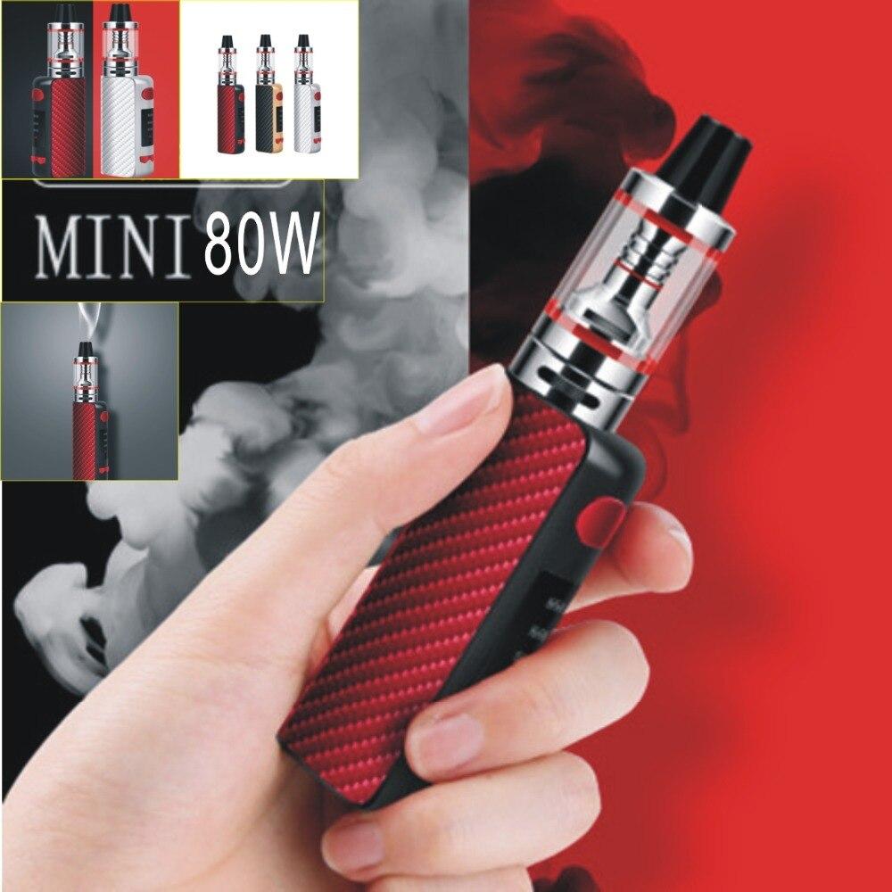 2 PC 80 w cigarette électronique mod boîte kit 2.5 ml réservoir LED 2200 mah batterie 0.3ohm fumée vaporisateur stylo narguilé mini vaporisateur vaper