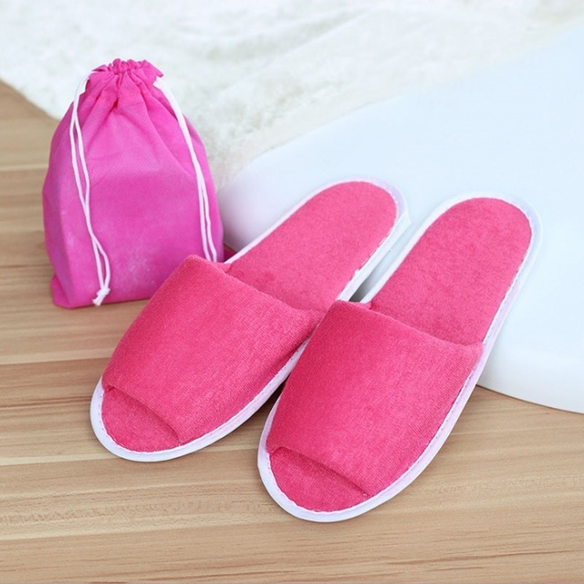 New Simple Hotel Travel Spa Portable Folding House Slippers 2