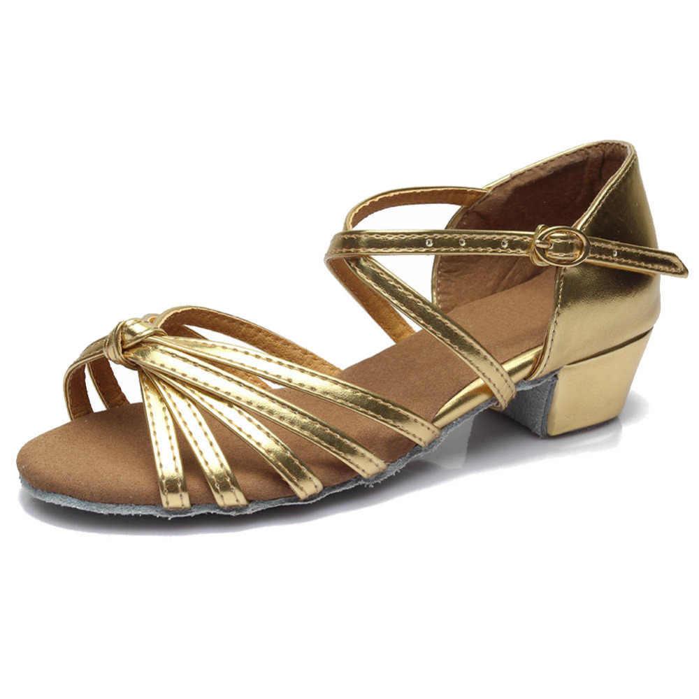 Wysokiej jakości nowy nabytek hurtowych dziewcząt dzieci/dziecko/dzieci ballroom tango salsa latin dance buty buty na niskim obcasie 20 kolorów